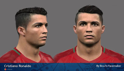 PES 2016 Cristiano Ronaldo Face By Bou7a Facemaker