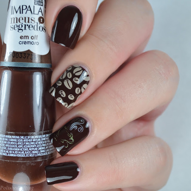 coffee nail art