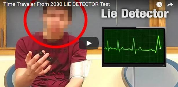 Viajante do tempo passa em teste de detector de mentiras