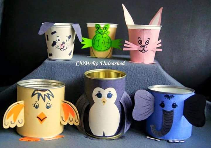 Waste Tins Creative Ideas For Kids