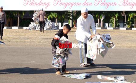 Kombes Pol Wahyu Dwi Ariwibowo, Pungut Sampah di Lapangan Hitam SPN Batua Makassar
