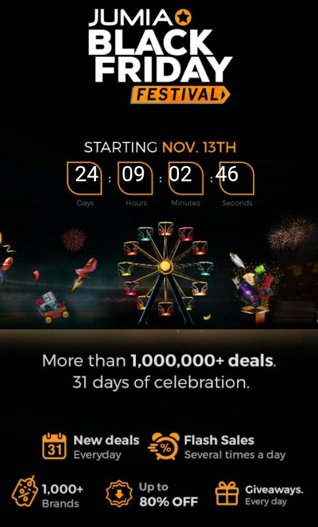 Jumia BlackFriday 2017 Keep The Date Nov 13-Dec 13