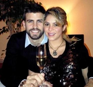 Foto de Shakira cenando con Gerard Piqué