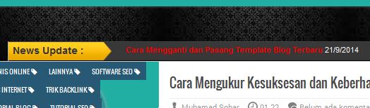 Cara Pasang Artikel News Update Berjalan 2015