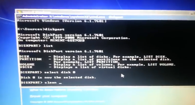 Windows Cannot be Installed to this Disk the selected Disk is of the GPT style