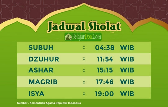 Jadwal Imsakiyah - Waktu Sholat 5 Waktu, Sahur dan Berbuka Puasa Hari ini Terbaru Bulan Ramadhan Tahun Ini