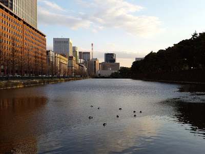 The moat of Japan's Imperial Palace Tokyo Japan