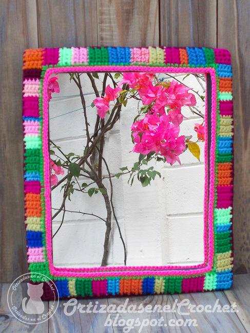 Renovando un espejo | Ortizadas en el Crochet