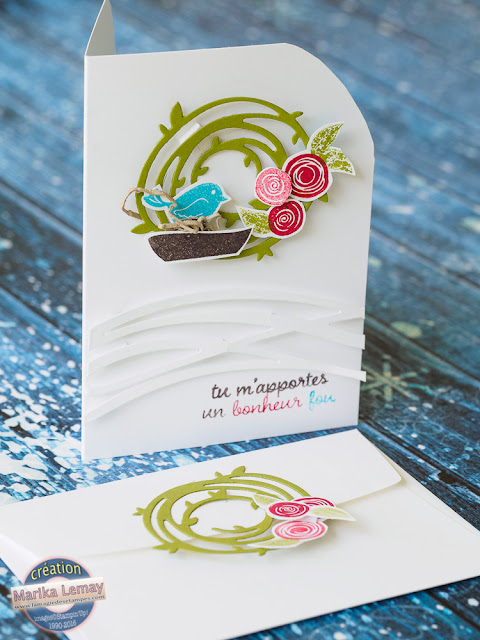 carte swirly bird Stampinup card