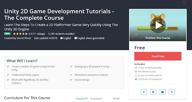 Unity 2D Game Development Tutorials - The Complete Course