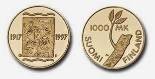juhlaraha 1000 markkaa