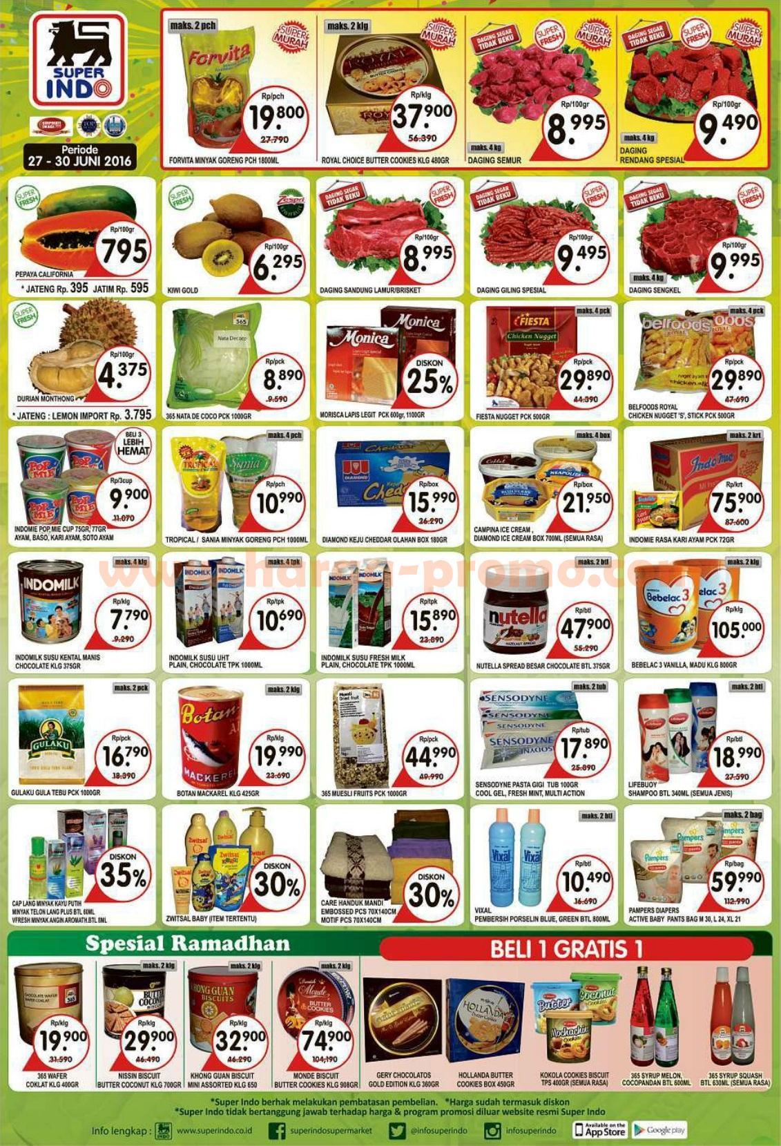 Katalog Promo Super Indo Terbaru Weekday Periode 27 30 Juni 2016 Durian Cup 75gr