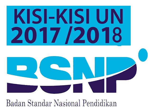 KISI KISI UN DAN POS UN SMP SMA SMK TAHUN 2018 TP. 2017/2018