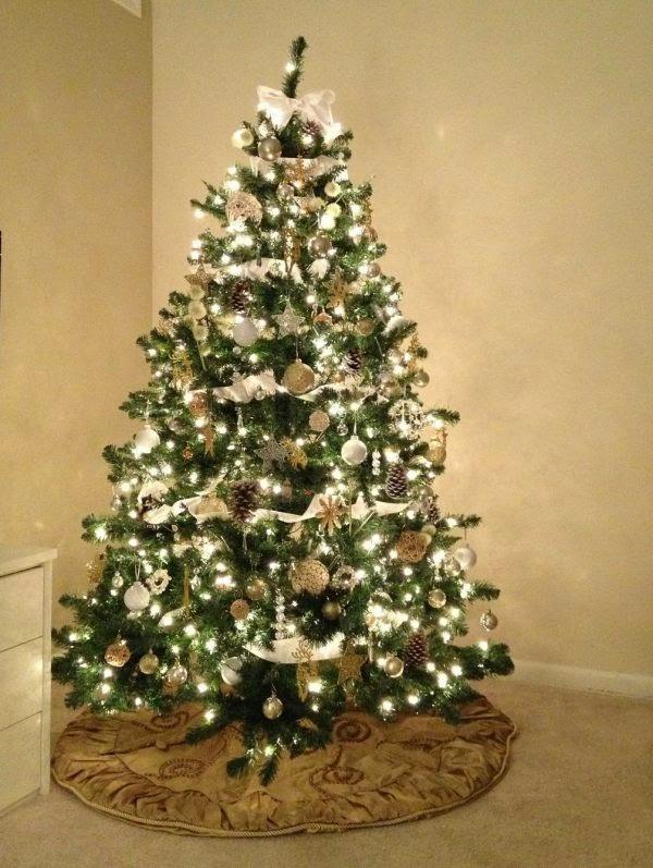 árbol de navidad plata