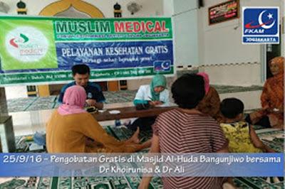 Pelayanan Kesehatan Gratis di Masjid Al Huda Cikalan Bangunjiwo Bantul