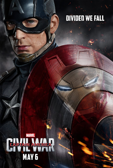 Marvel's Captain America: Civil War Theatrical One Sheet Teaser Movie Posters – Captain America vs. Iron Man