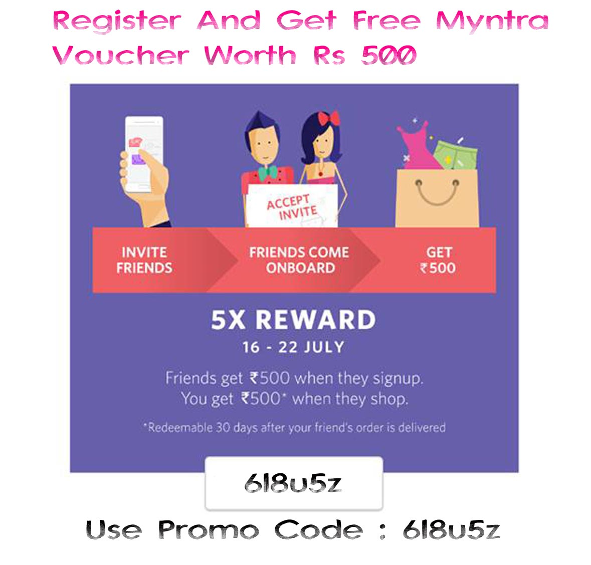 Get Myntra Voucher Rs 500 FREE - Freebie Giveaway Contest - Win