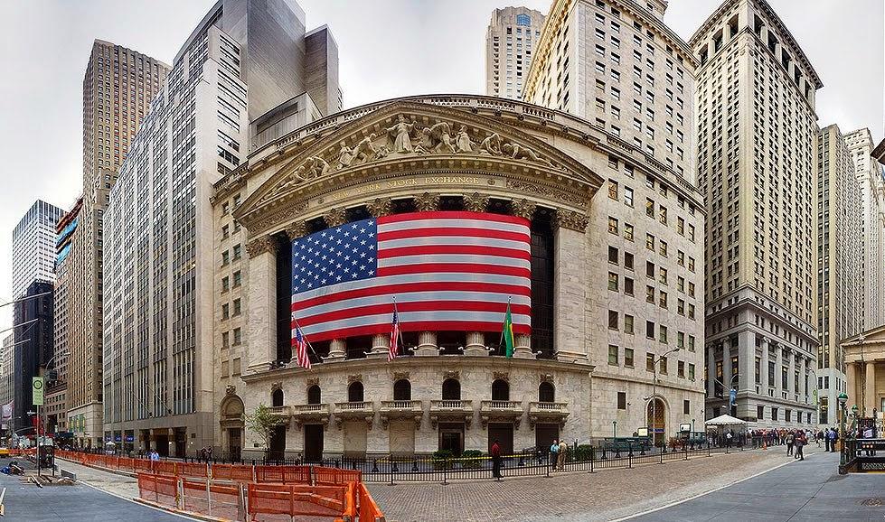 Rua Wall Street em Nova York