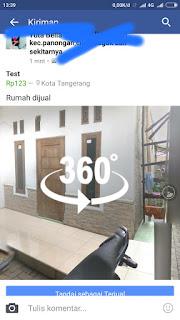 mempromosikan property rumah tinggal dengan foto 360 derajat
