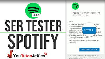como ser beta tester spotify