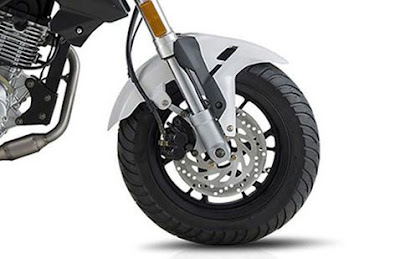 Benelli TNT 135 front wheel with disk breack