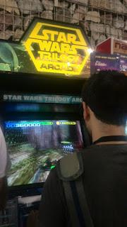 Espectacular mueble con el Arcade de la saga de George Lucas