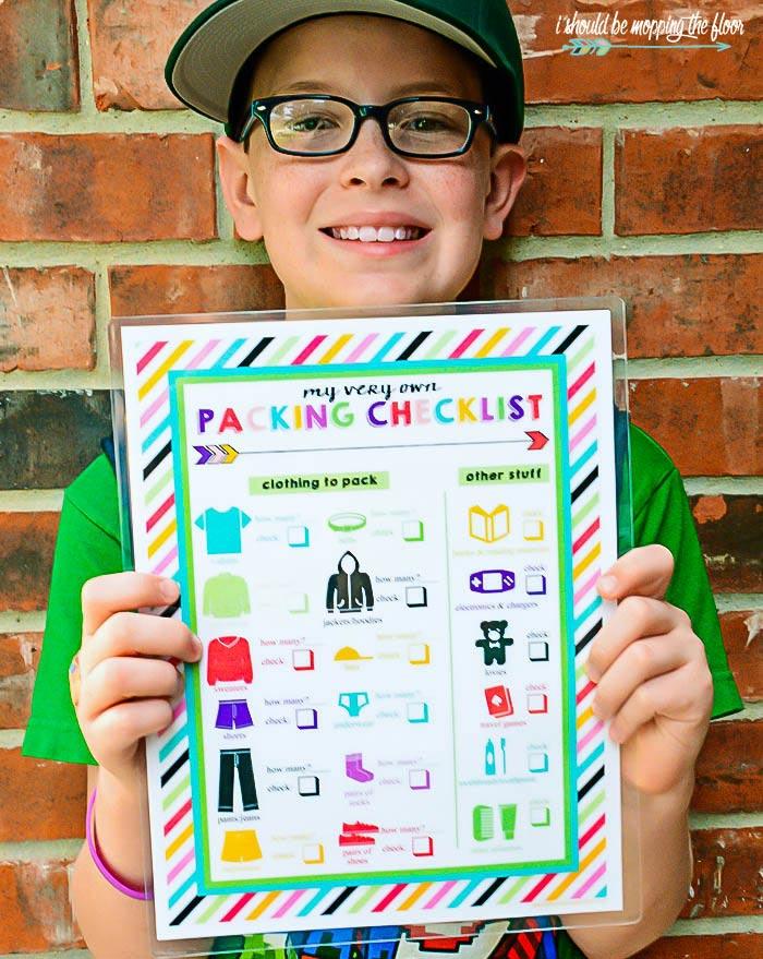 Children's Printable Packing List
