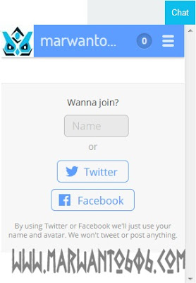 Cara Memasang Chatbox Tlk.io Di Blog