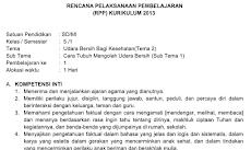 RPP Kelas 5 Tema 2 Kurikulum 2013 Revisi 2018