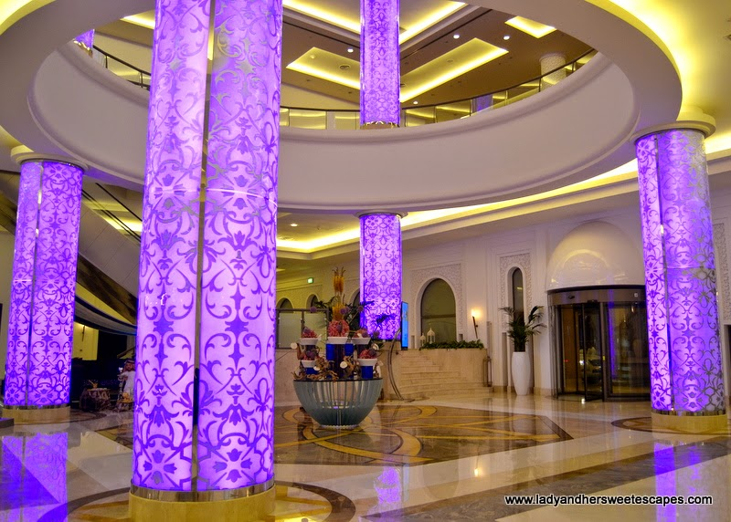 the elegant lobby of The Ajman Palace