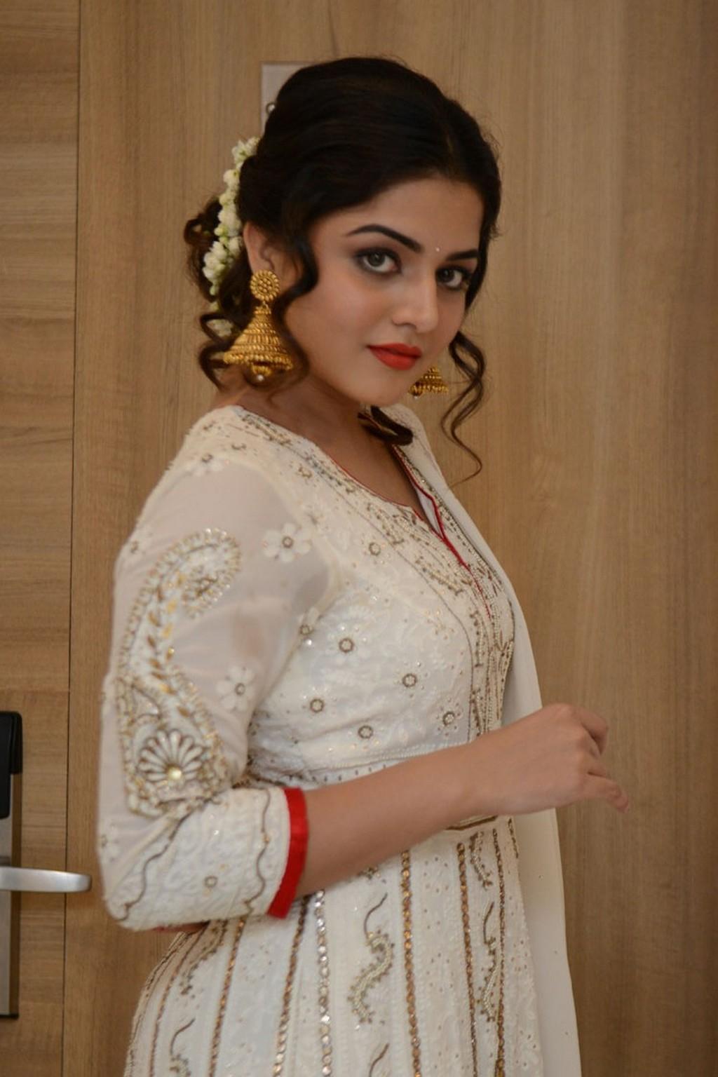 Glamours Actress Wamiqa Gabbi Hot Stills In White Dress