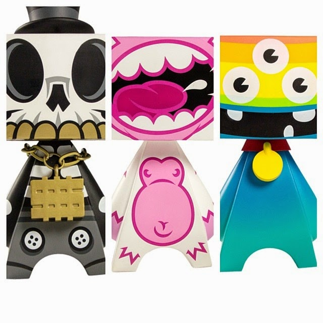 MAD*L Phase 4 Variant Colorway Vinyl Figures by MAD - White MAD Ape, Mono Modern Hero & Blue MAEMAEMON
