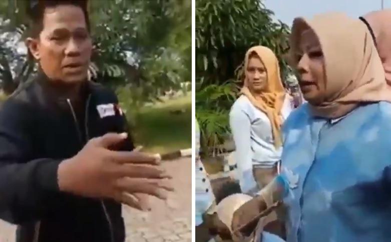 Jawaban emak-emak saat dilarang senam Prabowo-Sandi