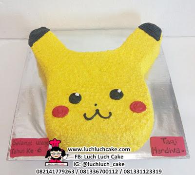 Kue Tart Pikachu Pokemon 3d Buttercream Cake