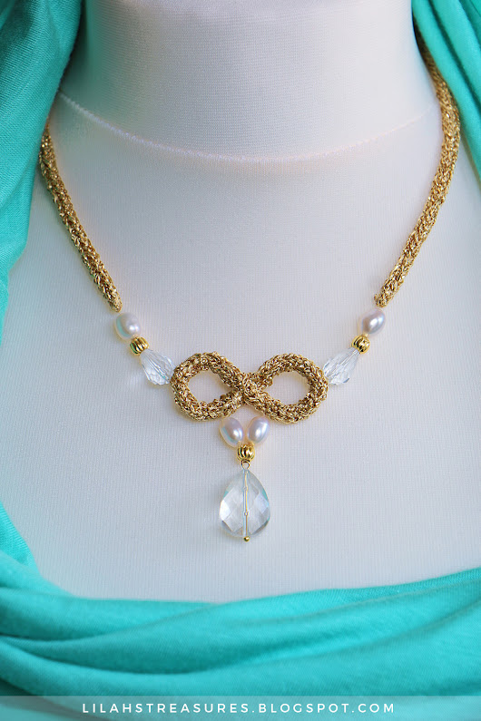 Lilah' s Treasures: Infinite tricotin necklace