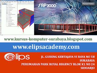 KURSUS SAP 2000 DI SURABAYA | ELIPS ACADEMY COMPUTER