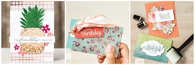 Stampin' Up! Sale-A-Bration second release Flowering Foils Specialty Designer Series Paper samples