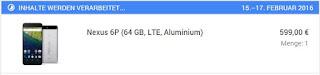 Bestellung: Nexus 6P