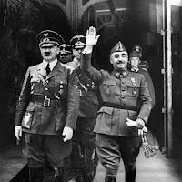 el Gobierno fascista de Franco en España fue impuesto al  pueblo  español  por la  fuerza  con  la  ayuda  de  las  potencias  del  Eje  a las cuales dio ayuda  material  durante la guerra...