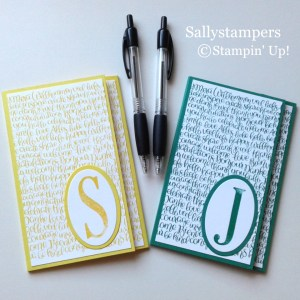 Large leters from Stampin Up
