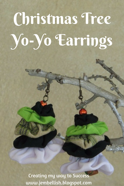 Christmas Tree Yo-Yo Earrings