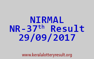 NIRMAL Lottery NR 37 Results 29-9-2017