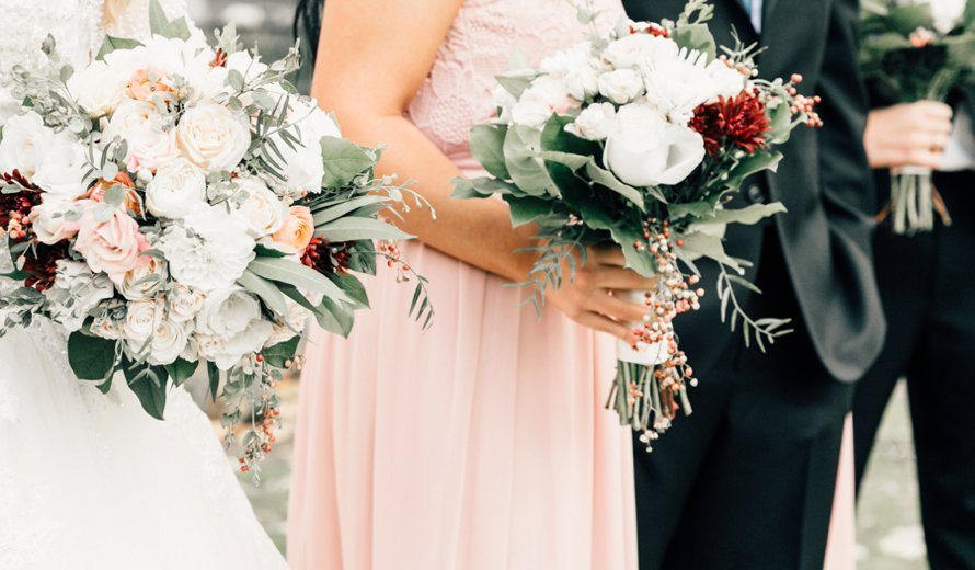 Romantic Rose Palette Winter Wedding by Something Minted Photography