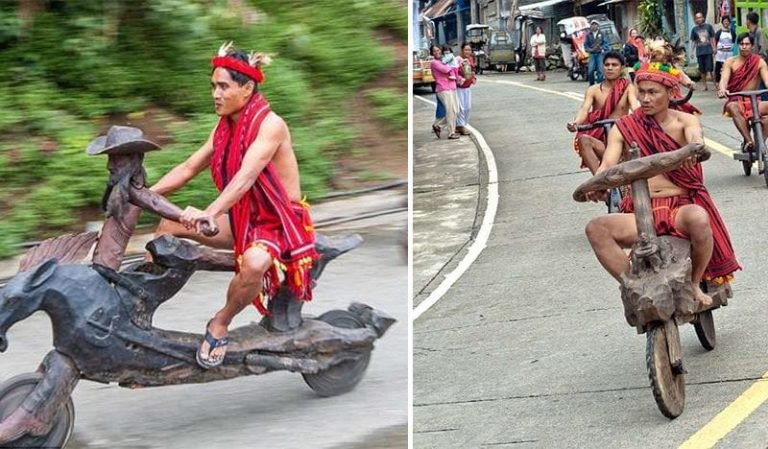 This Native Tribe In The Philippines Creates Ornately-Carved Bikes From Wood [Pictures]