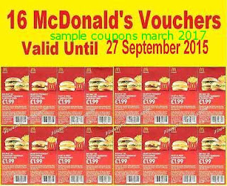 free Mcdonalds coupons march 2017