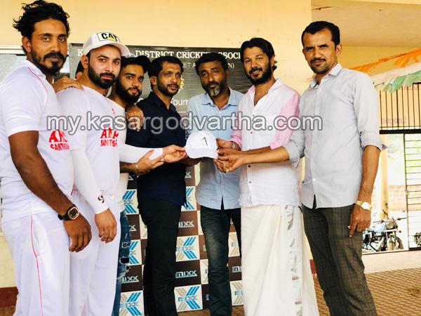 Kerala, News, Kasargod, Santhosh Nagar, UAE Amasc Cricket Cap handed over.