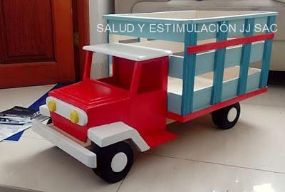 camioncito de madera para jalar para bateria tap Kit Ministerio de Educación-MINEDU