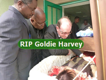 goldie harvey funeral pictures