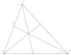Teorema Ceva Trigonometri