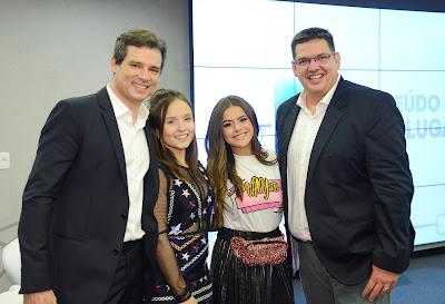 Celso Portiolli, Larissa Manoela, Maisa Silva, Michael Ukstin – Crédito: João Raposo